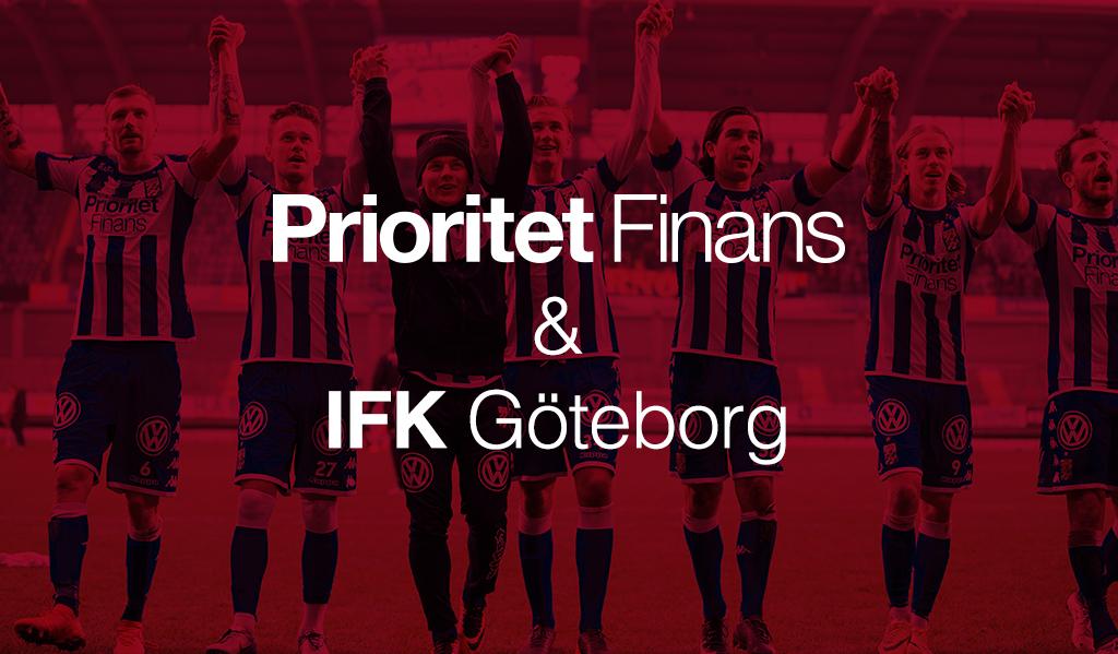 Prioritet Finans förlänger inte sitt stjärnsponsoravtal med IFK Göteborg